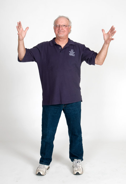 Mike with arms spread